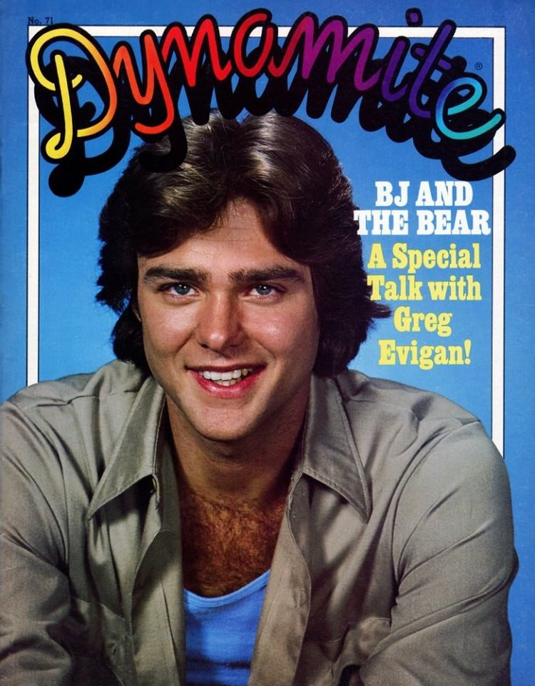 Vintage Dynamite magazine cover - Greg Evigan of BJ and the Bear TV