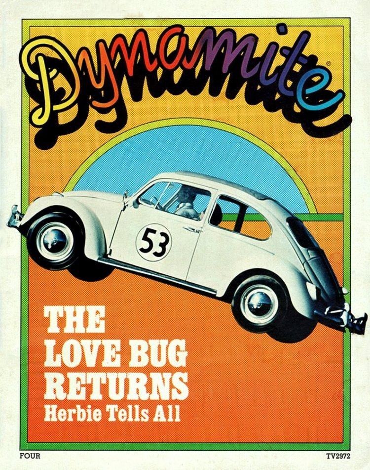 Vintage Dynamite magazine cover - Herbie the Love Bug