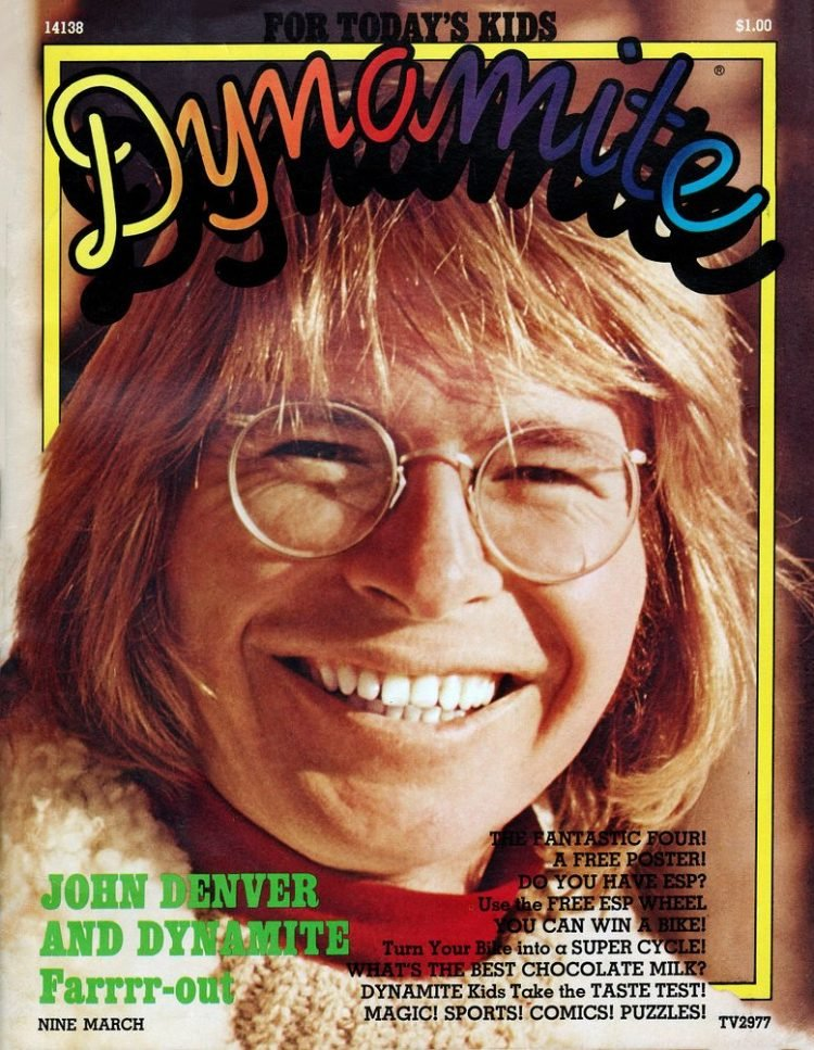 Vintage Dynamite magazine cover - John Denver