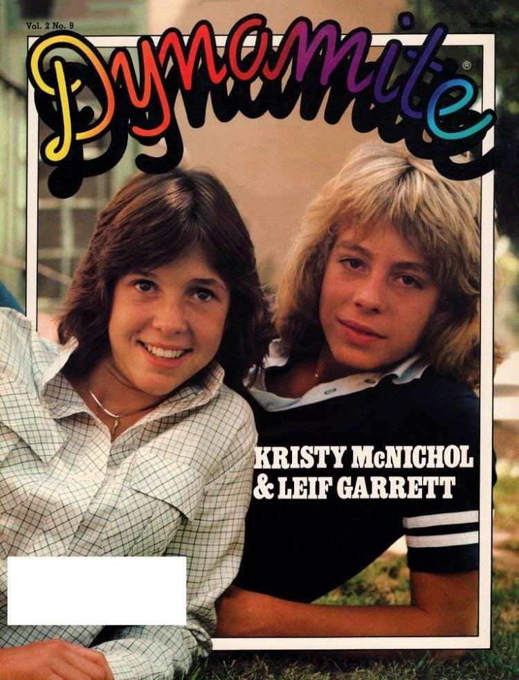 Vintage Dynamite magazine cover - Kristy McNichol and Leif Garrett