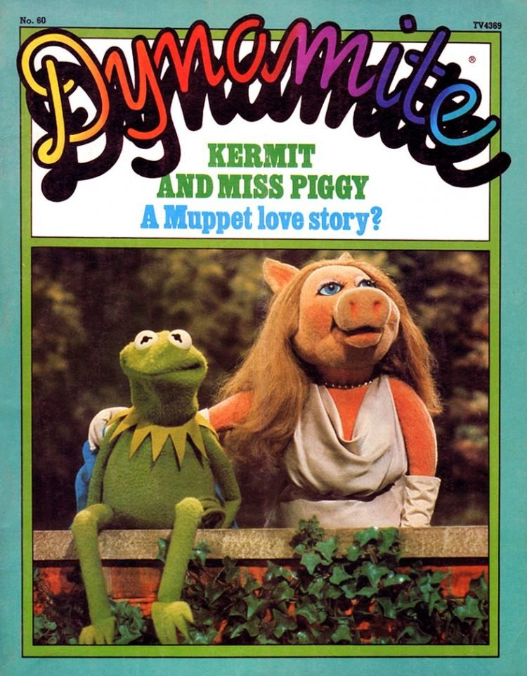 Vintage Dynamite magazine cover - Muppets - Kermit and Miss Piggy