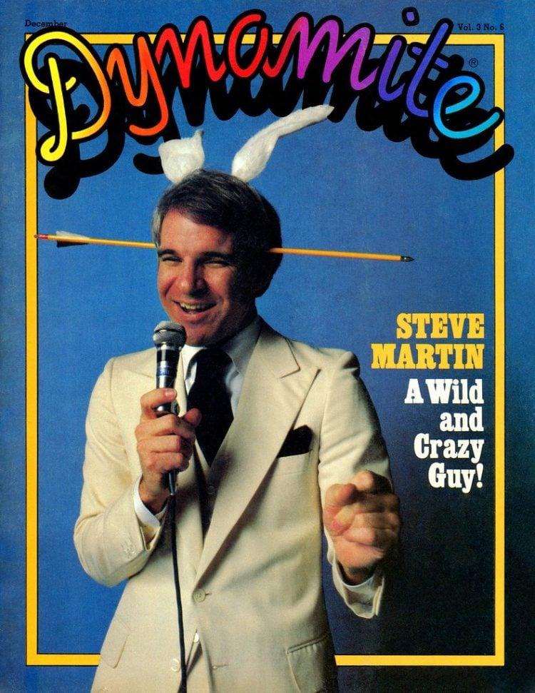 Vintage Dynamite magazine cover - Steve Martin