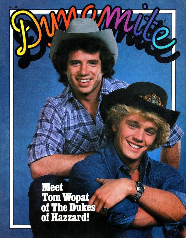 Vintage Dynamite magazine cover - Tom Wopat - Dukes of Hazzard