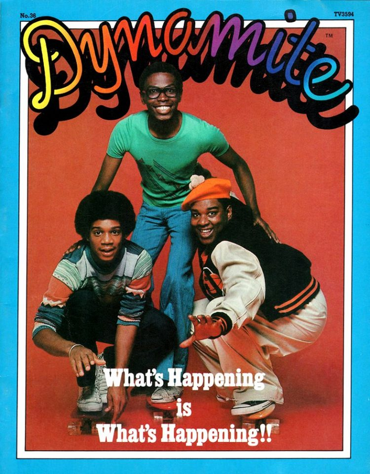 Vintage Dynamite magazine cover - What's Happening TV show