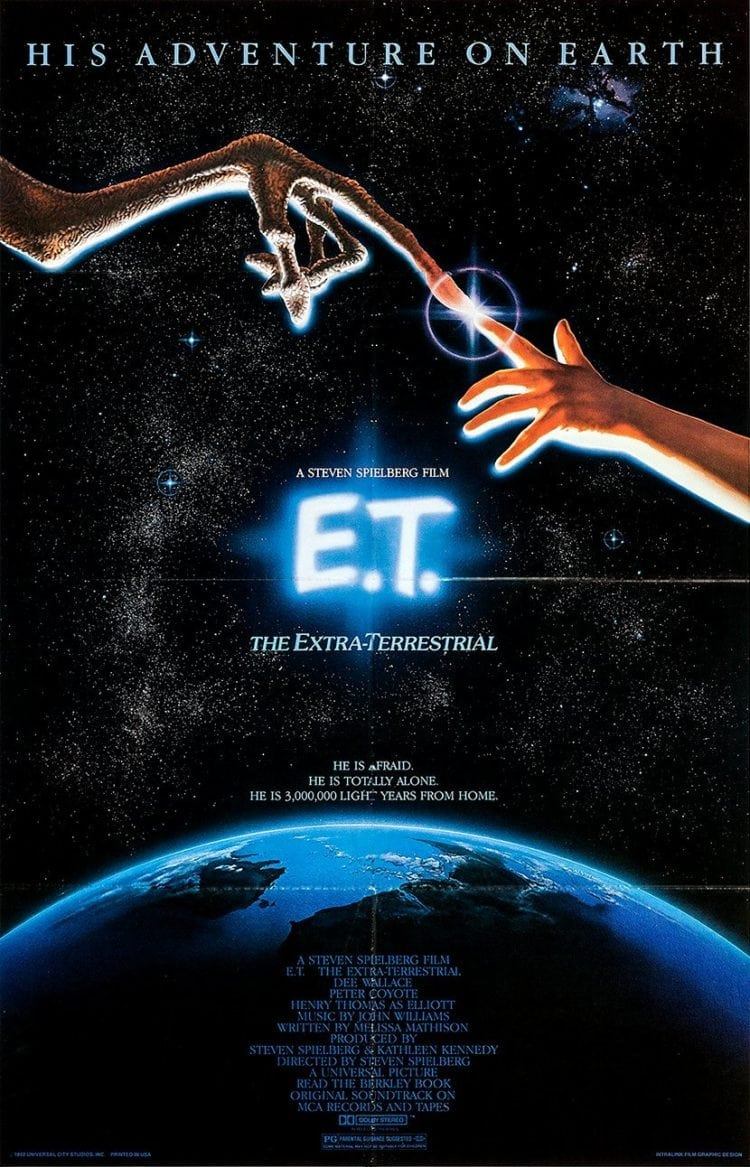 Vintage E.T. the Extra-Terrestrial movie poster