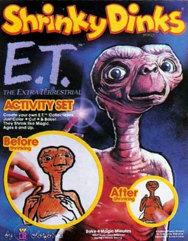 Vintage ET Shrinky Dinks