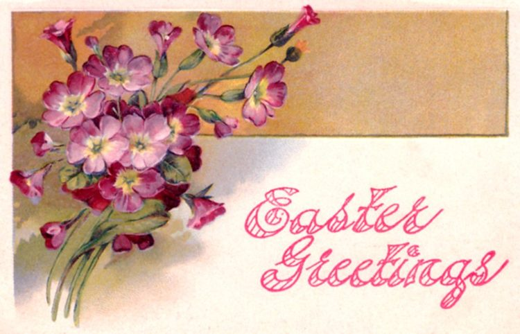 Vintage Easter Greetings postcard from c1908