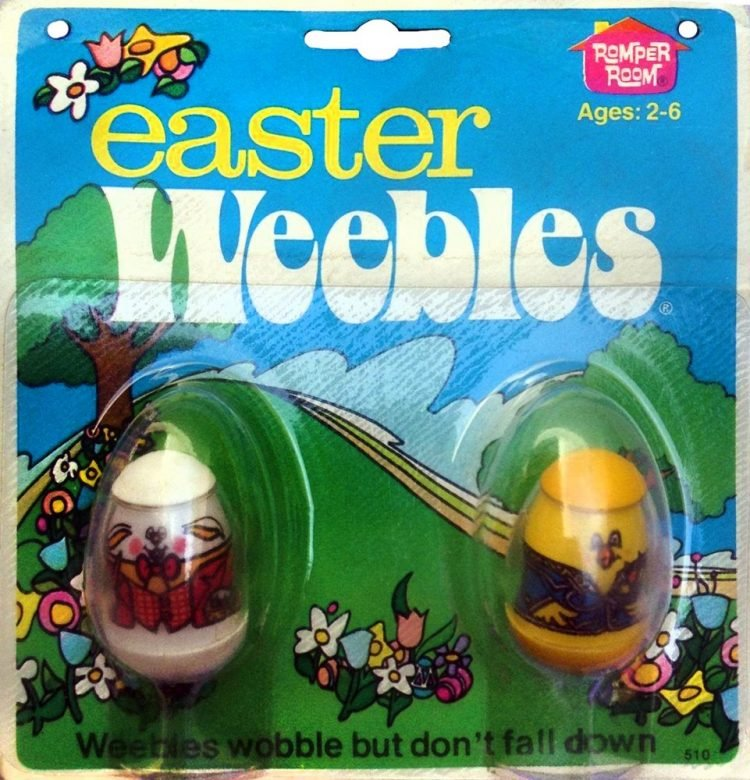 Vintage Easter Weebles 1976
