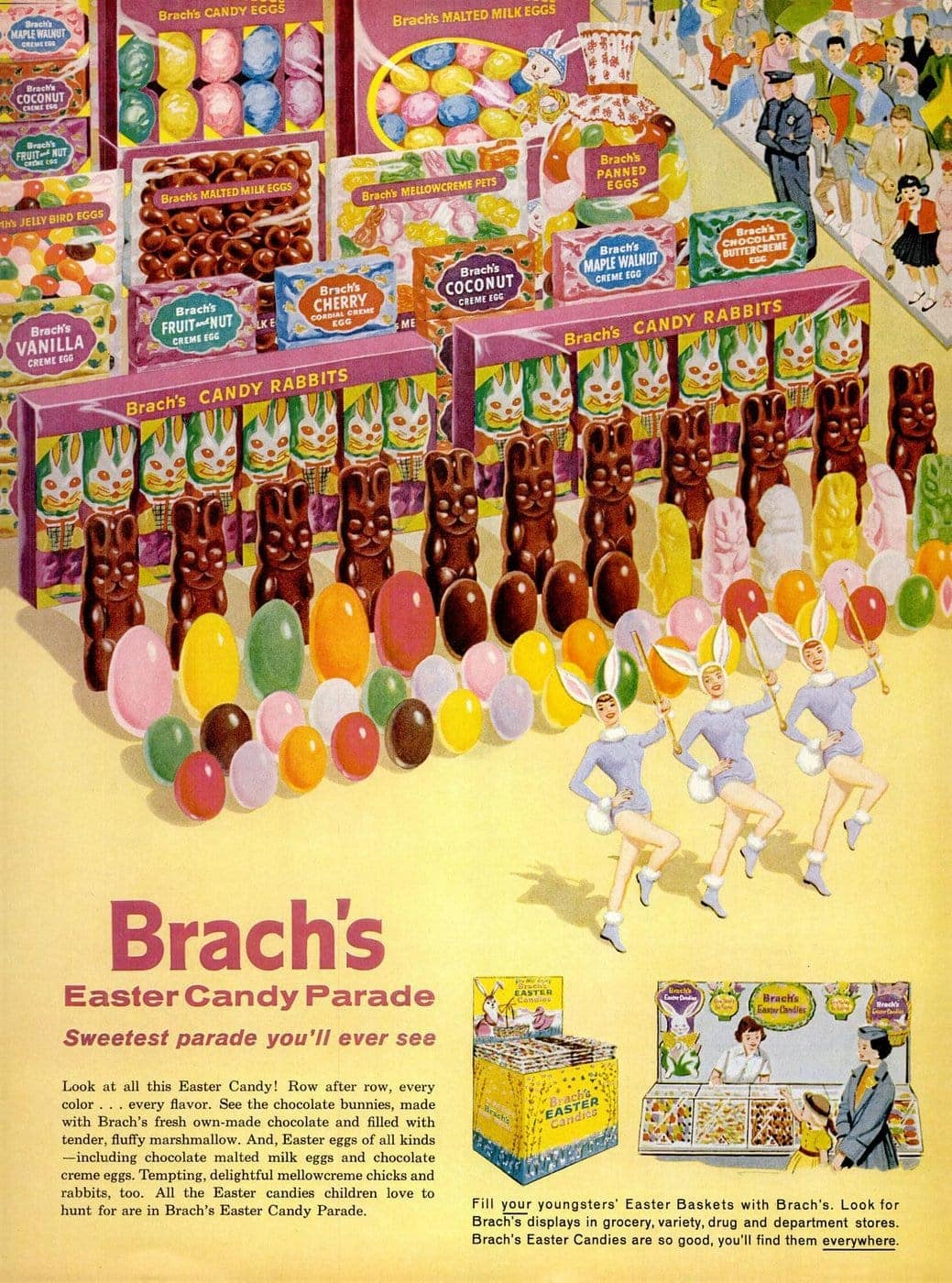 Vintage Easter candy and treats from 1960