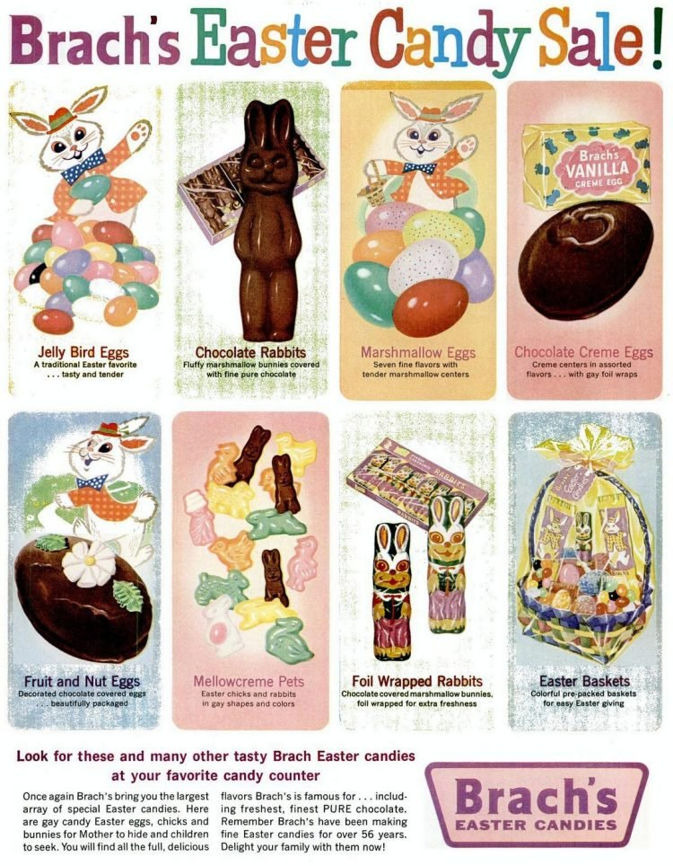 Vintage Easter candy for kids from 1961
