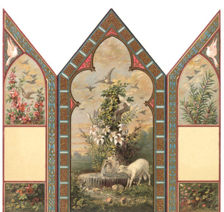Vintage Easter card panels