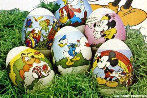 Vintage Easter egg shrink plastic decorating sleeves