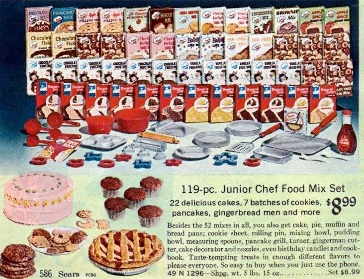 Vintage Easy Bake Oven baking mixes from the 60s