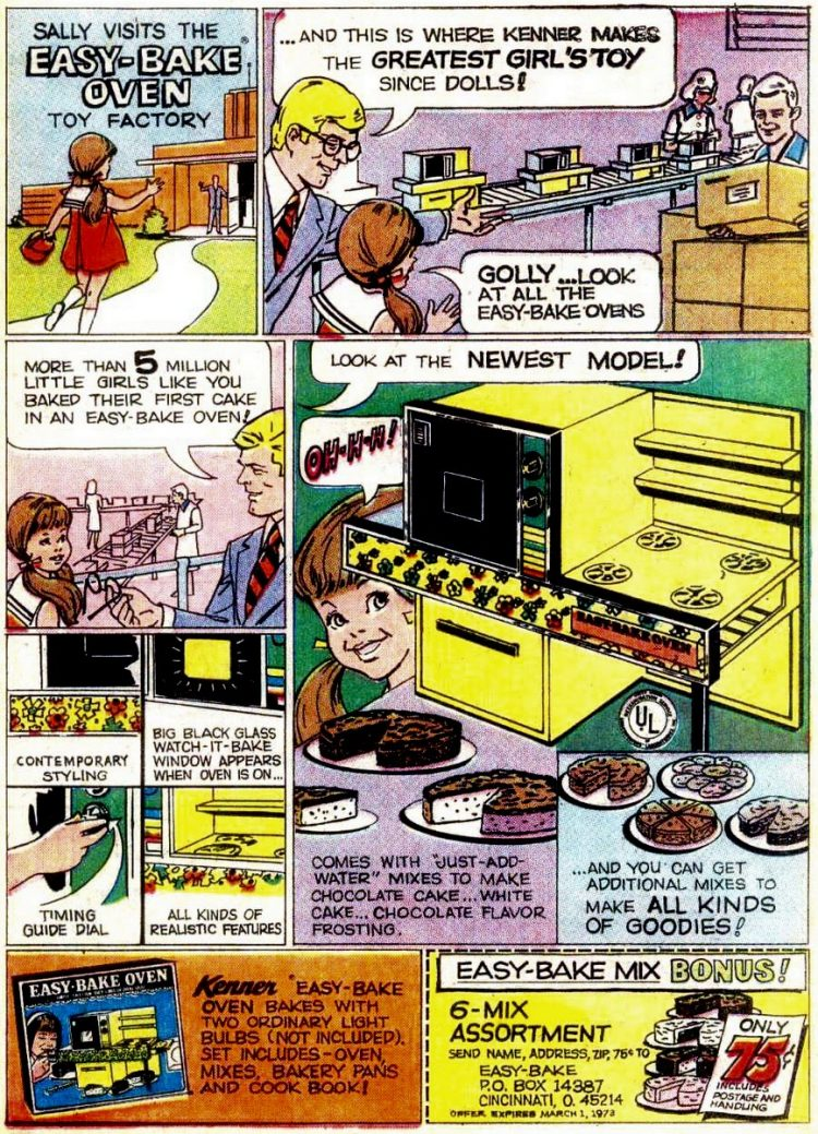 Vintage Easy Bake Oven comic book ad - 197