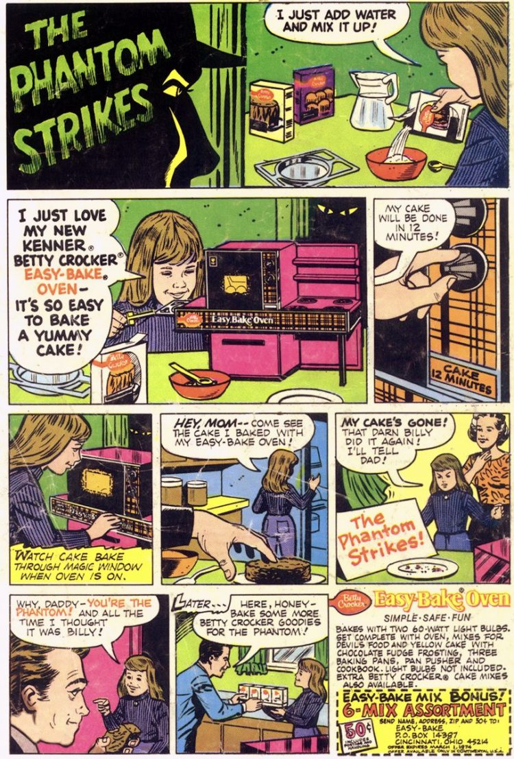 Vintage Easy Bake Oven comic book ad - 1973
