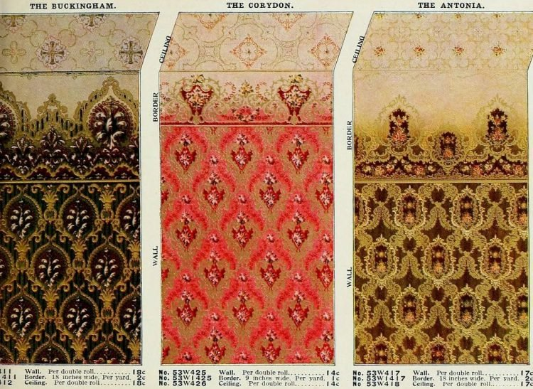 Vintage Edwardian wallpaper combinations from the 1900s (1)