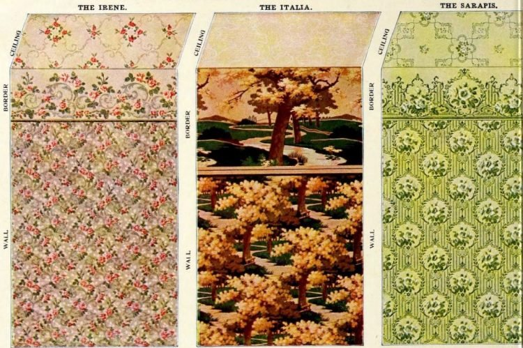 Vintage Edwardian wallpaper combinations from the 1900s (2)