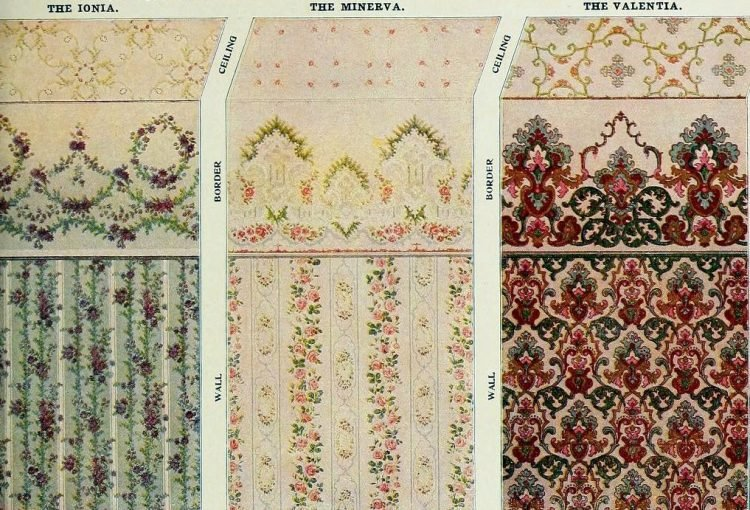 Vintage Edwardian wallpaper combinations from the 1900s (3)