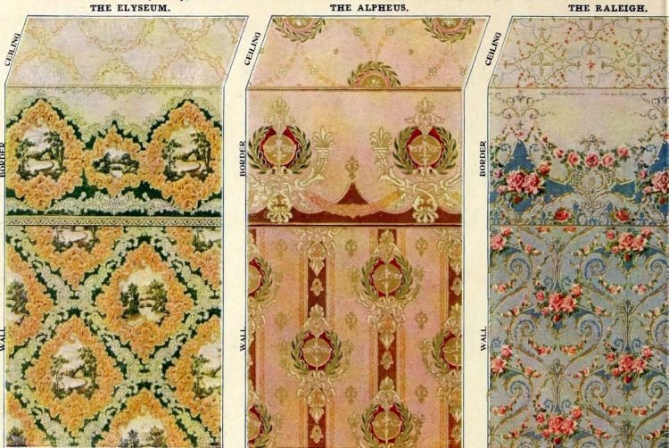 Vintage Edwardian wallpaper combinations from the 1900s (5)