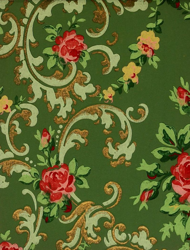 Vintage Edwardian wallpaper samples from 1906 (10)