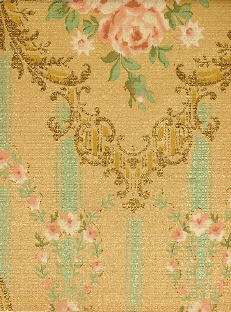 Vintage Edwardian wallpaper samples from 1906 (12)