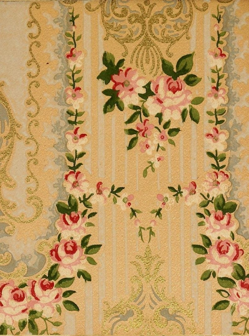 Vintage Edwardian wallpaper samples from 1906 (13)