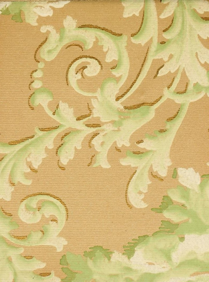 Vintage Edwardian wallpaper samples from 1906 (14)