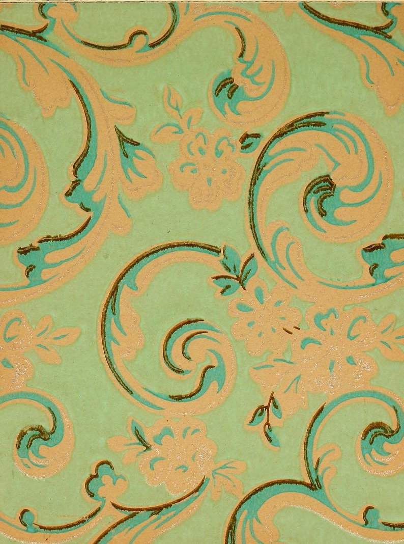 Vintage Edwardian wallpaper samples from 1906 (18)