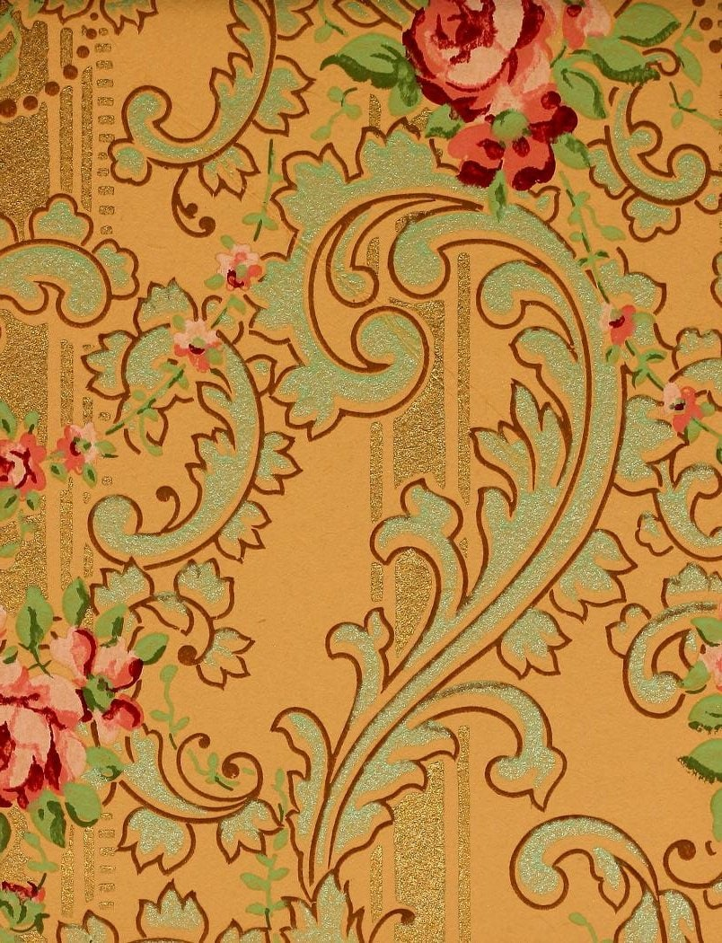 Vintage Edwardian wallpaper samples from 1906 (2)