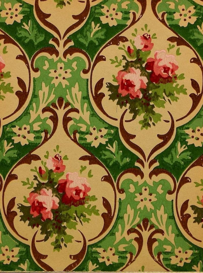 Vintage Edwardian wallpaper samples from 1906 (20)