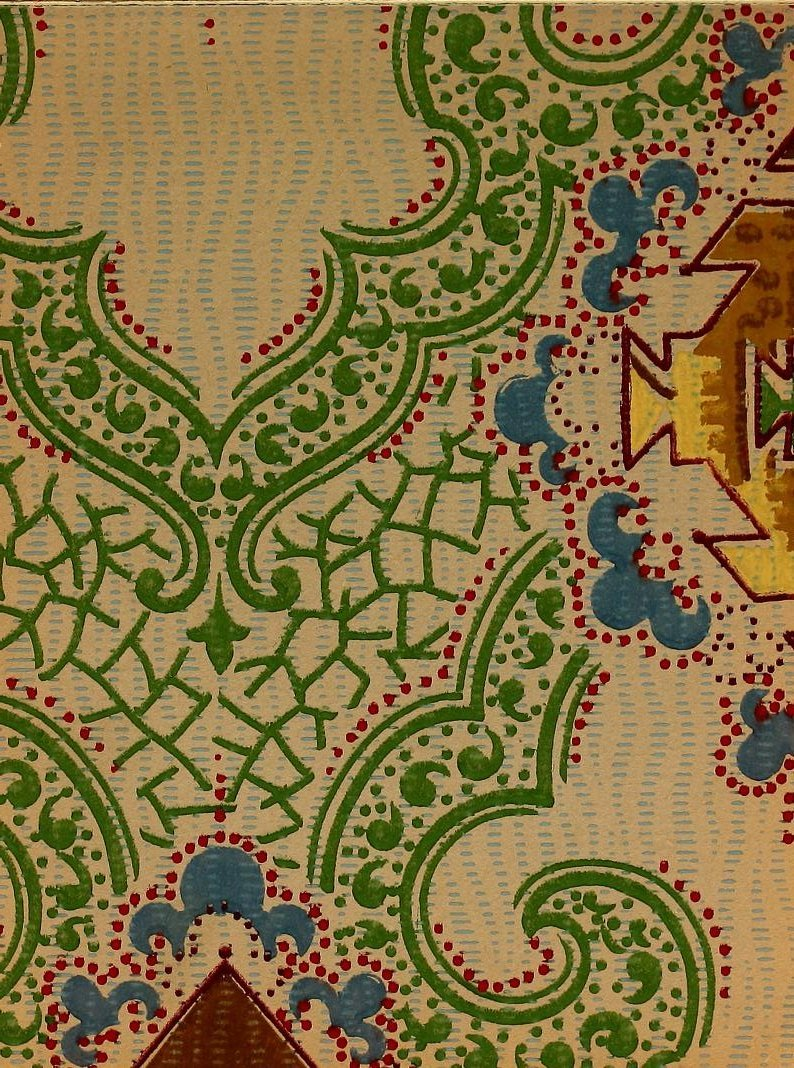 Vintage Edwardian wallpaper samples from 1906 (21)