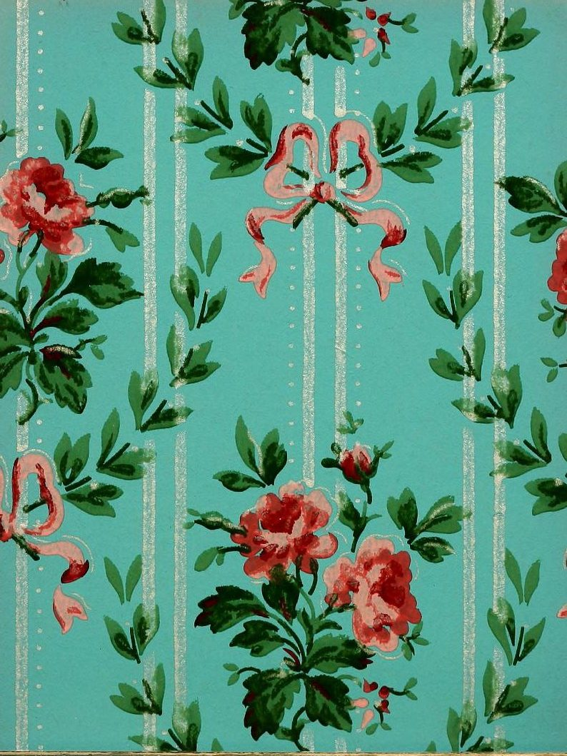 Vintage Edwardian wallpaper samples from 1906 (26)