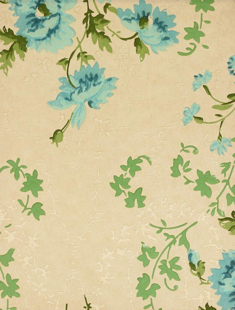 Vintage Edwardian wallpaper samples from 1906 (30)
