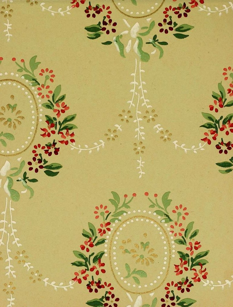 Vintage Edwardian wallpaper samples from 1906 (31)