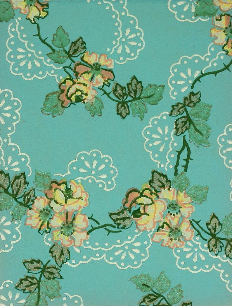 Vintage Edwardian wallpaper samples from 1906 (32)
