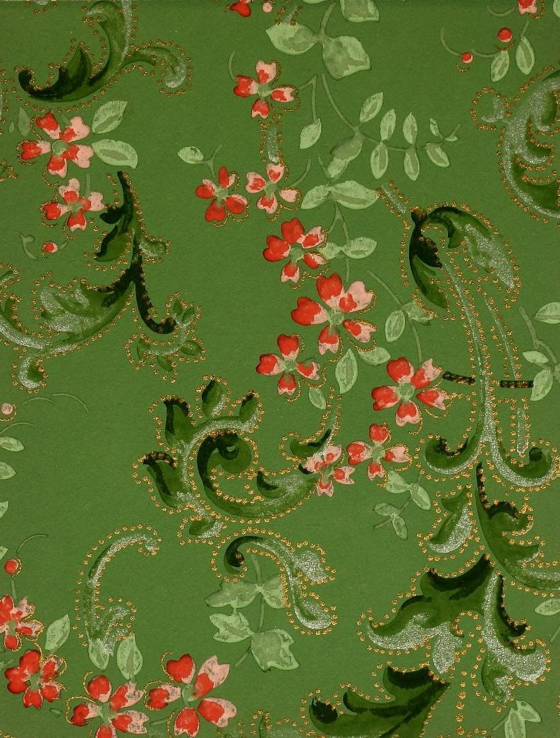 Vintage Edwardian wallpaper samples from 1906 (34)
