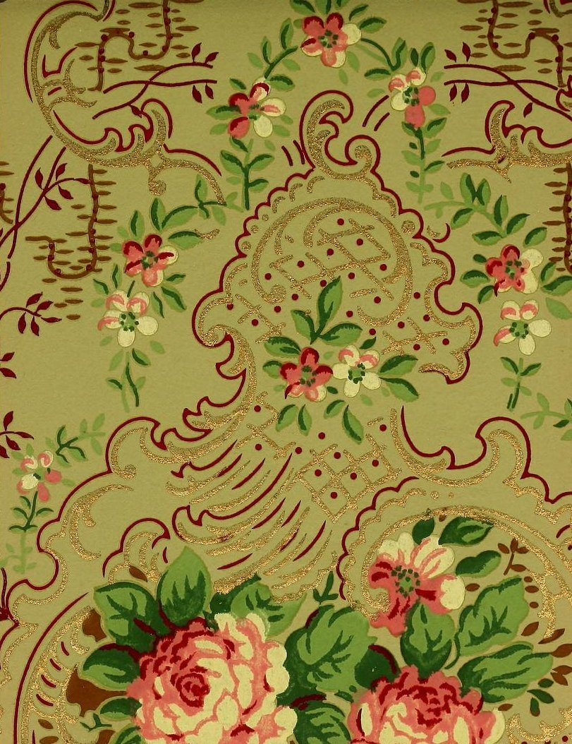 Vintage Edwardian wallpaper samples from 1906 (35)