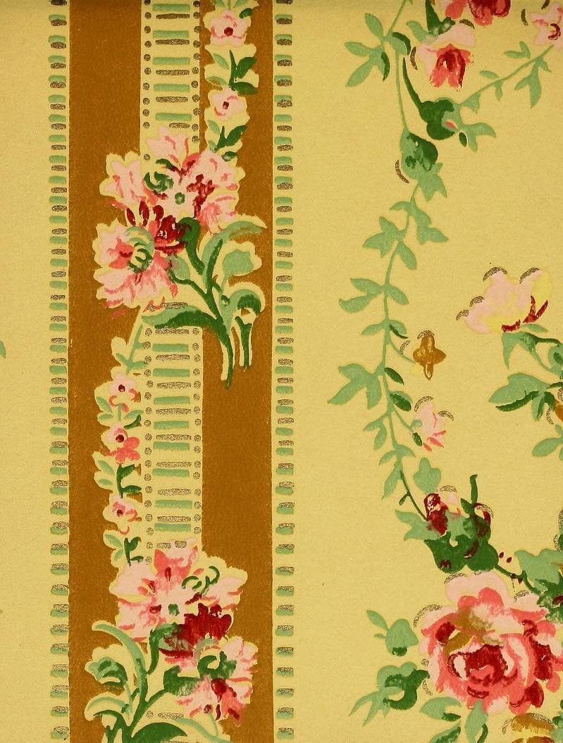 Vintage Edwardian wallpaper samples from 1906 (36)