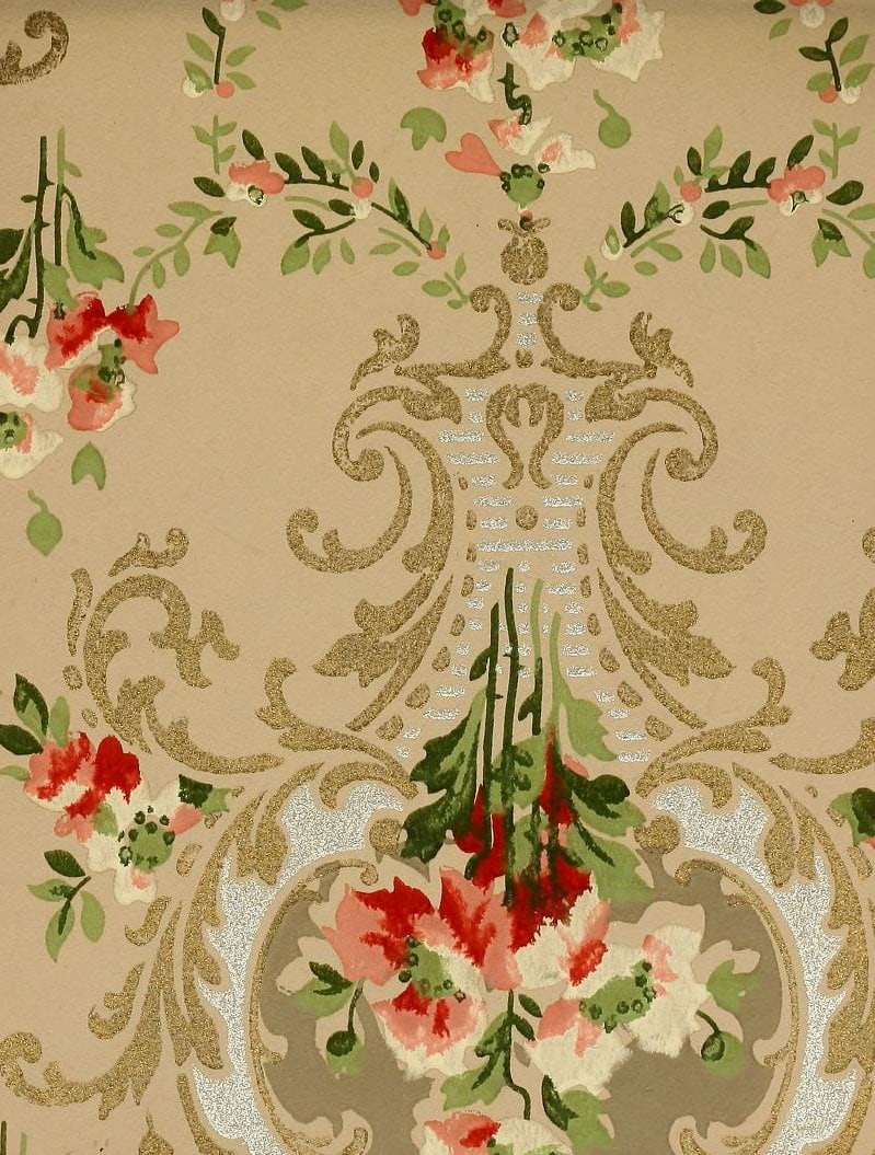 Vintage Edwardian wallpaper samples from 1906 (37)