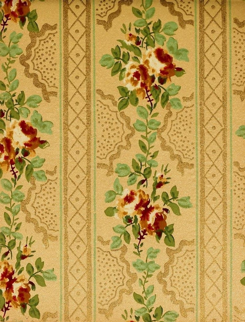 Vintage Edwardian wallpaper samples from 1906 (38)