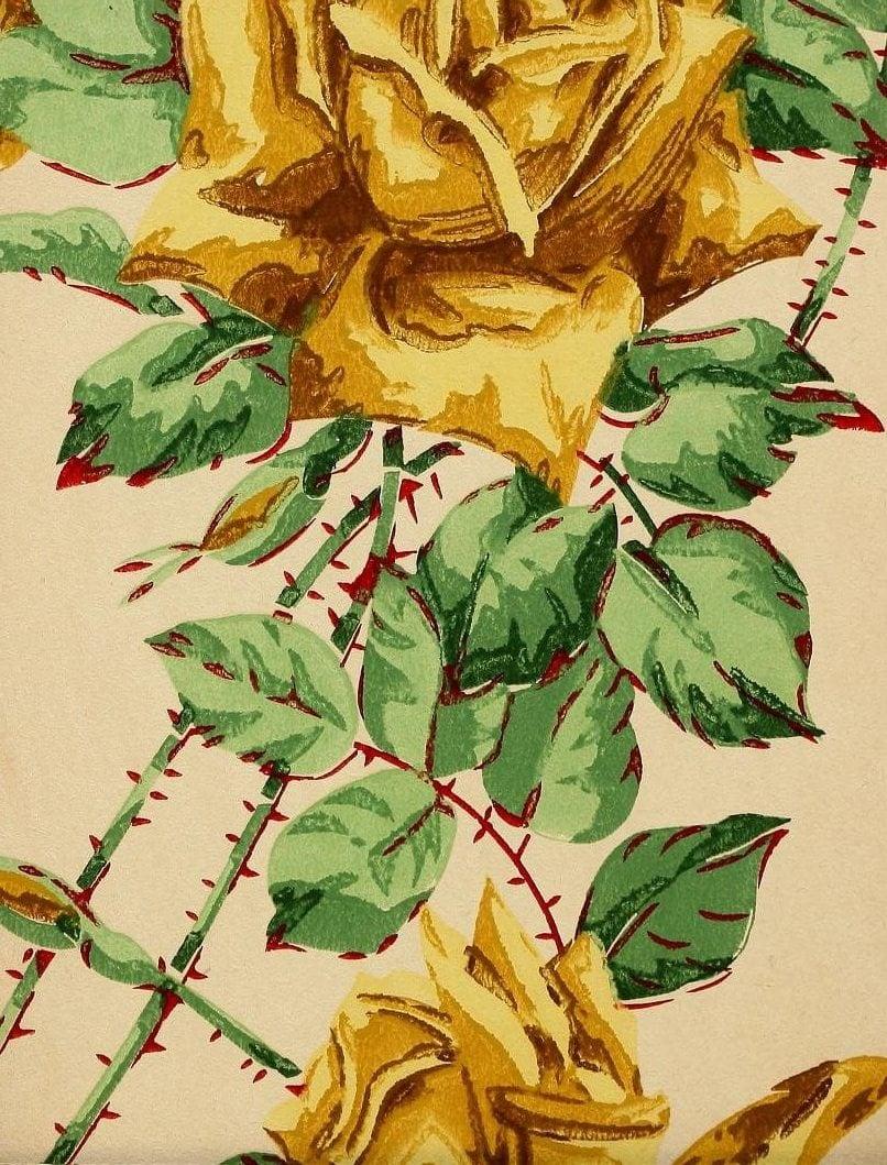 Vintage Edwardian wallpaper samples from 1906 (6)