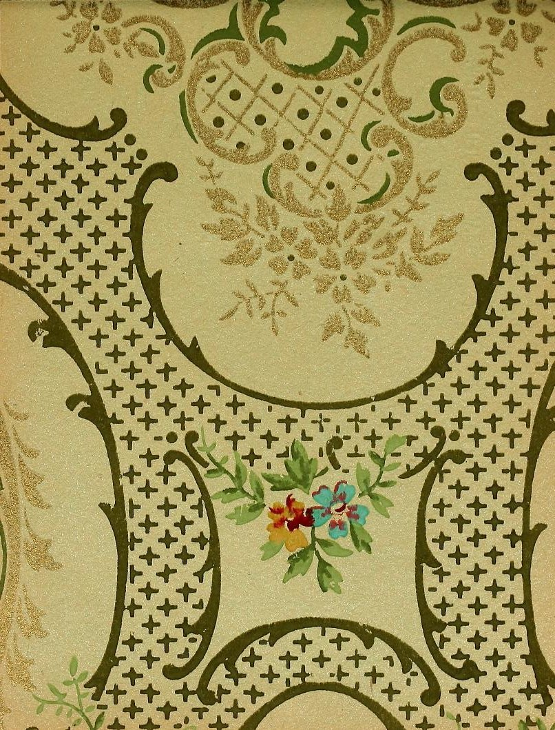 Vintage Edwardian wallpaper samples from 1906 (7)