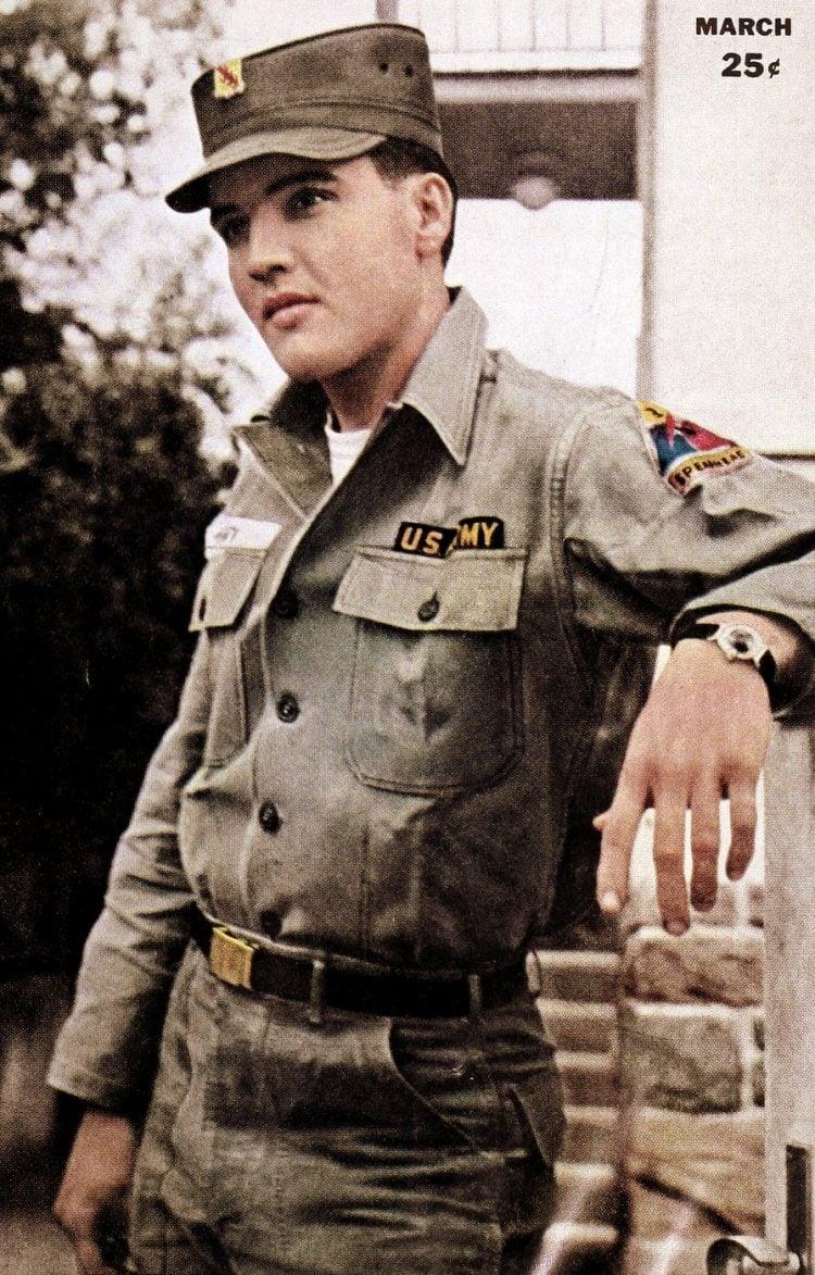 Vintage Elvis Presley in the Army (2)