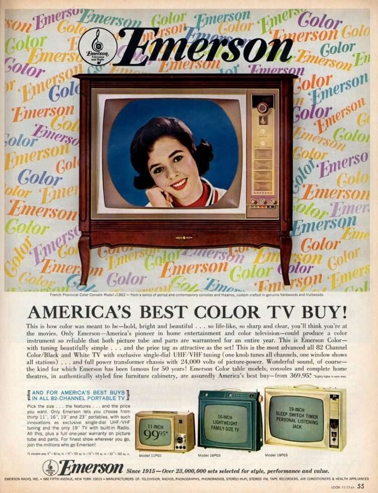 Vintage Emerson TV from 1964