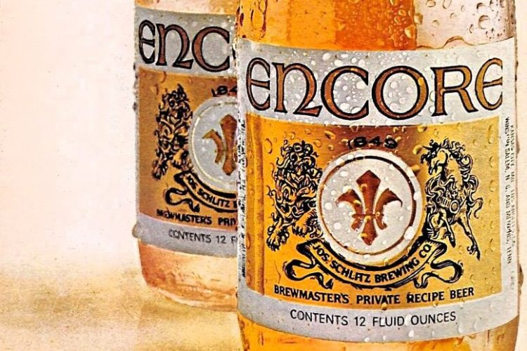 Vintage Encore Beer ad from Schlitz - 1970s