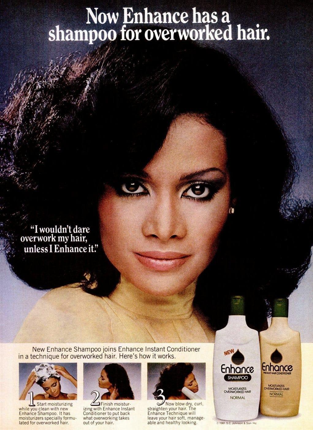 Vintage Enhance shampoo and conditioner 1981