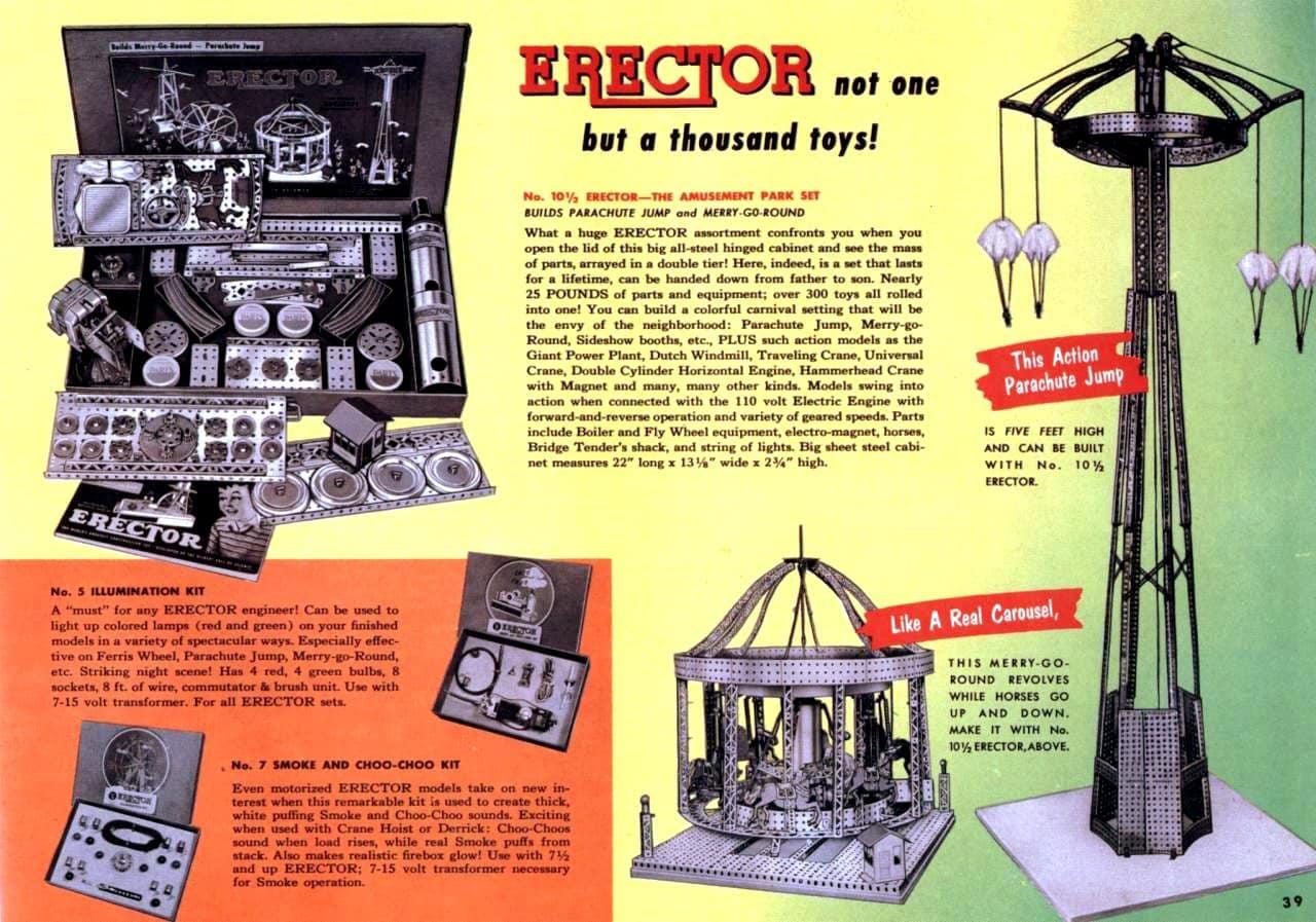 Vintage Erector Sets from 1952