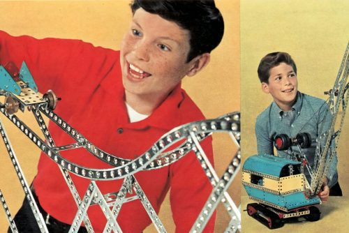 Vintage Erector set construction toys