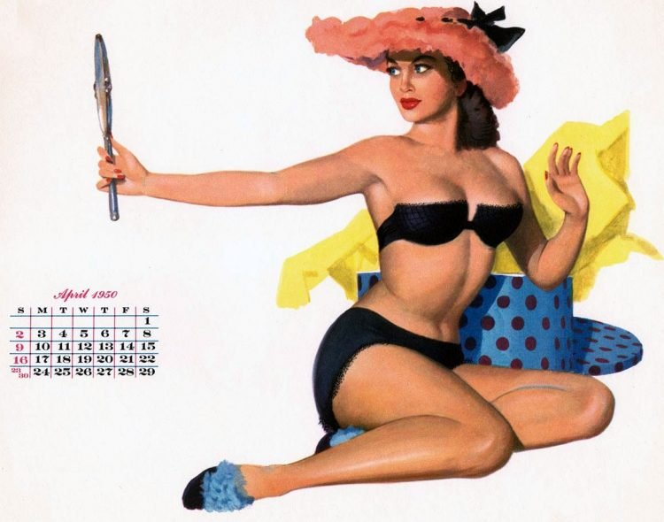Vintage Esquire calendar pin-up girls (1)