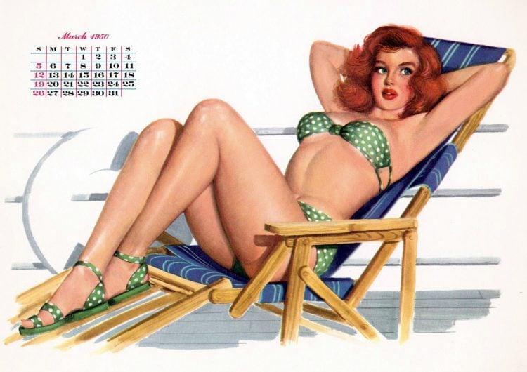 Esquire vintage calendar girls